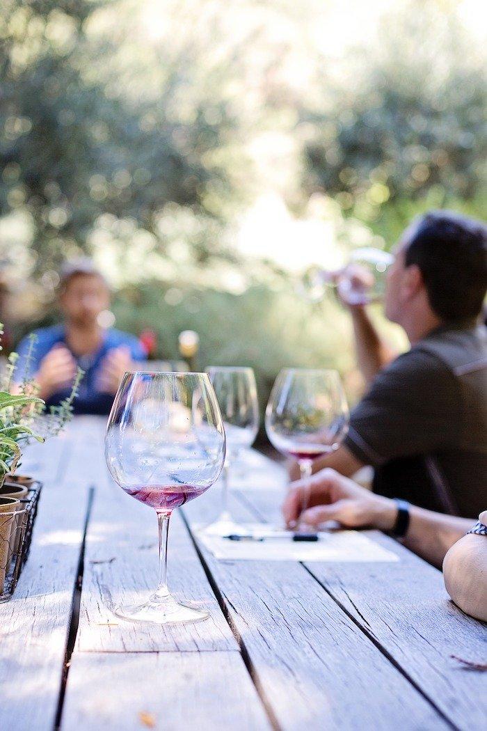 Wine tasting at Shadow Line Vineyard, North Carolina