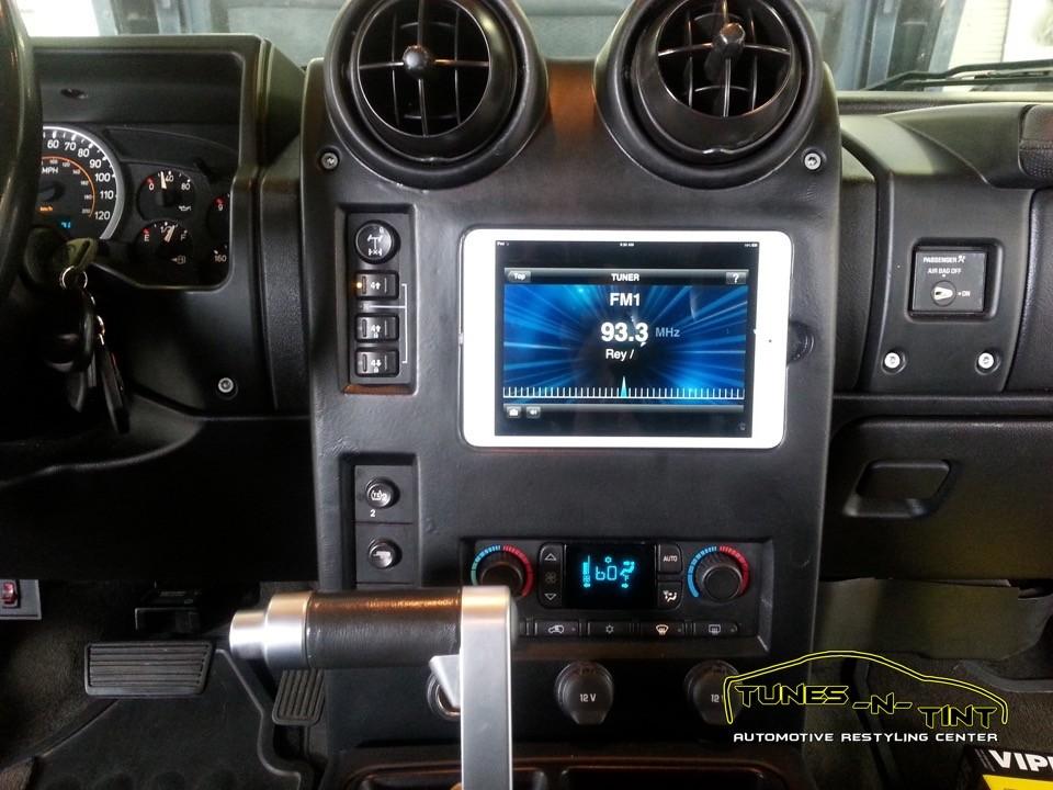 2006 Hummer H2 Custom Ipad Dash Tunes N Tint