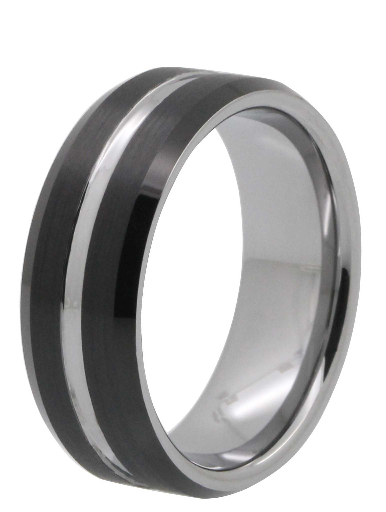 8MM Two Tone Tayloright Tungsten Ring Tungsten