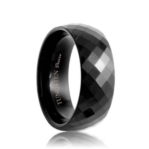 Black Diamond Ring Black Diamond Ring Tungsten Ring Mens