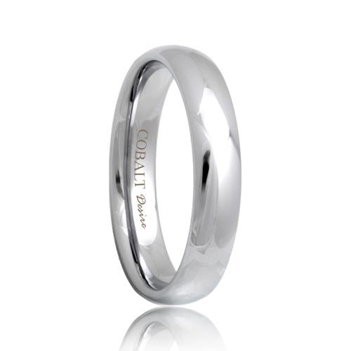 4mm domed durable cobalt chrome wedding band