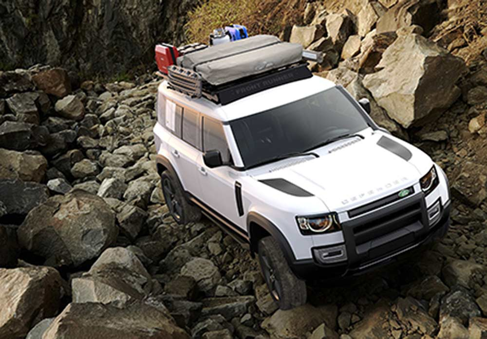 2020 land rover defender with front