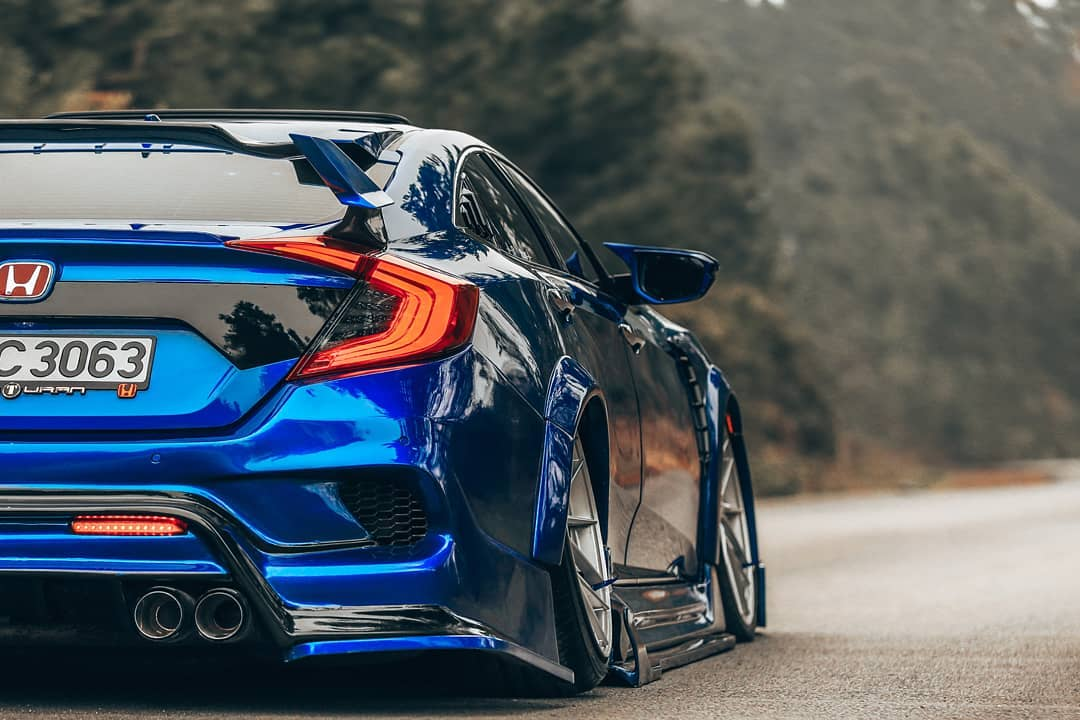 honda civic type r with body kits from