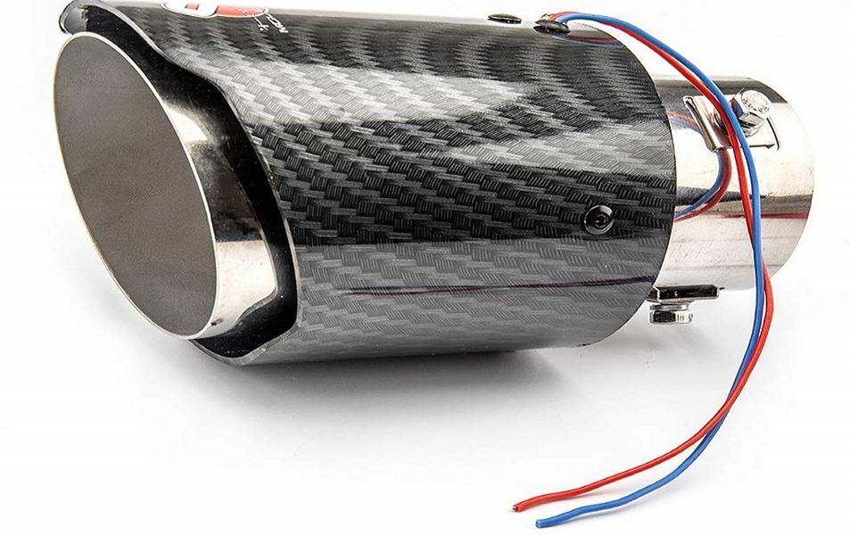 illuminated tailpipes for the car