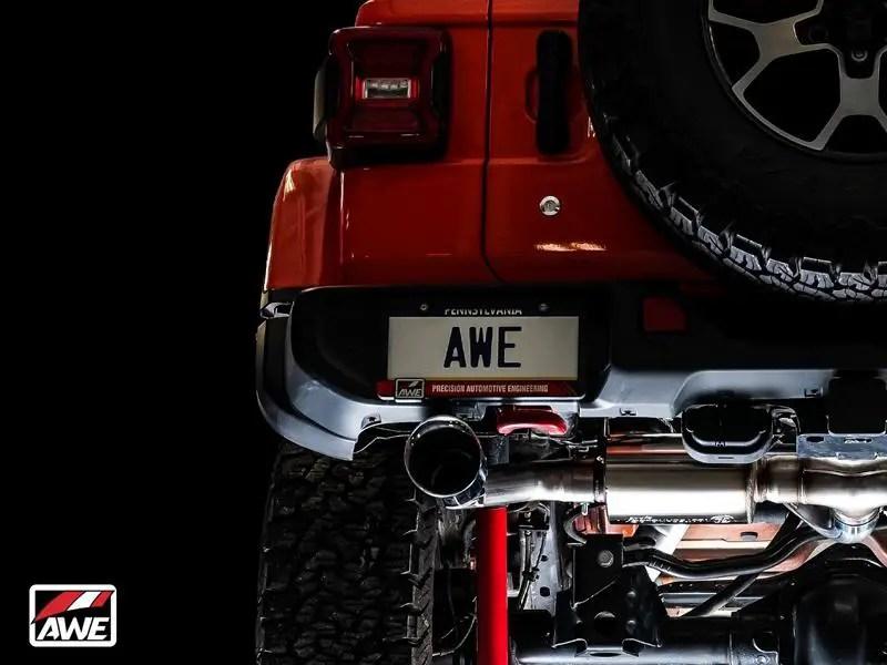 video awe exhaust on jeep wrangler jk