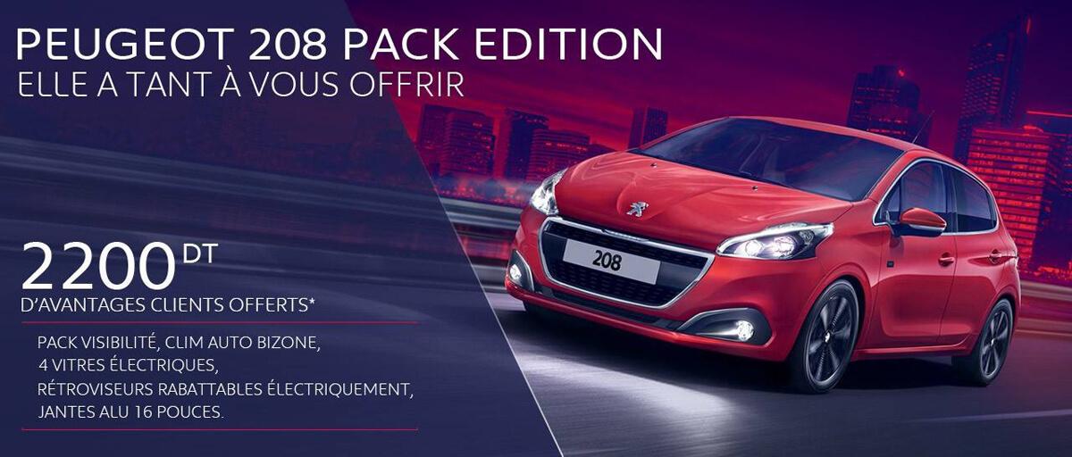 STAFIM propose la Nouvelle série spéciale PEUGEOT 208 Pack Edition