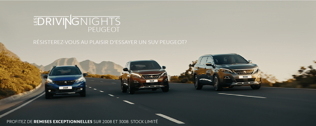 Les DRIVING NIGHTS by PEUGEOT TUNISIE