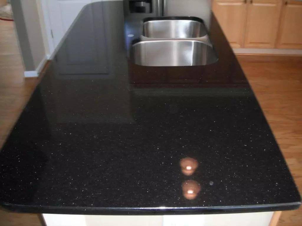 Cuisine Noir Galaxy - granites & marbres   granites & marbres