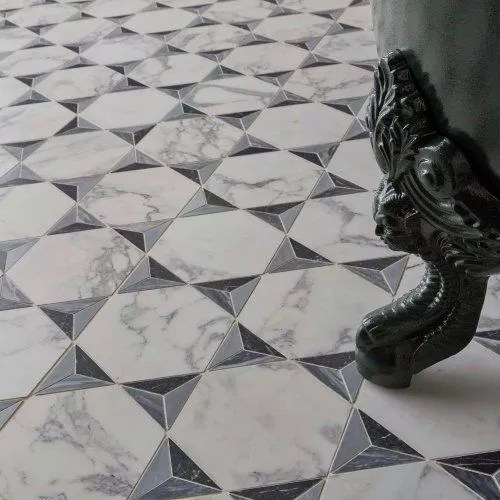 marbre HEXAGONE