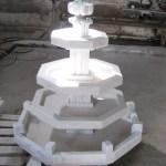 fontaine 3 étages de marbre