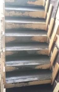 couler l'escalier beton
