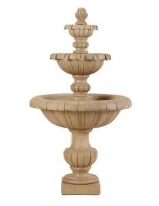 fontaine calssique de marbre beige
