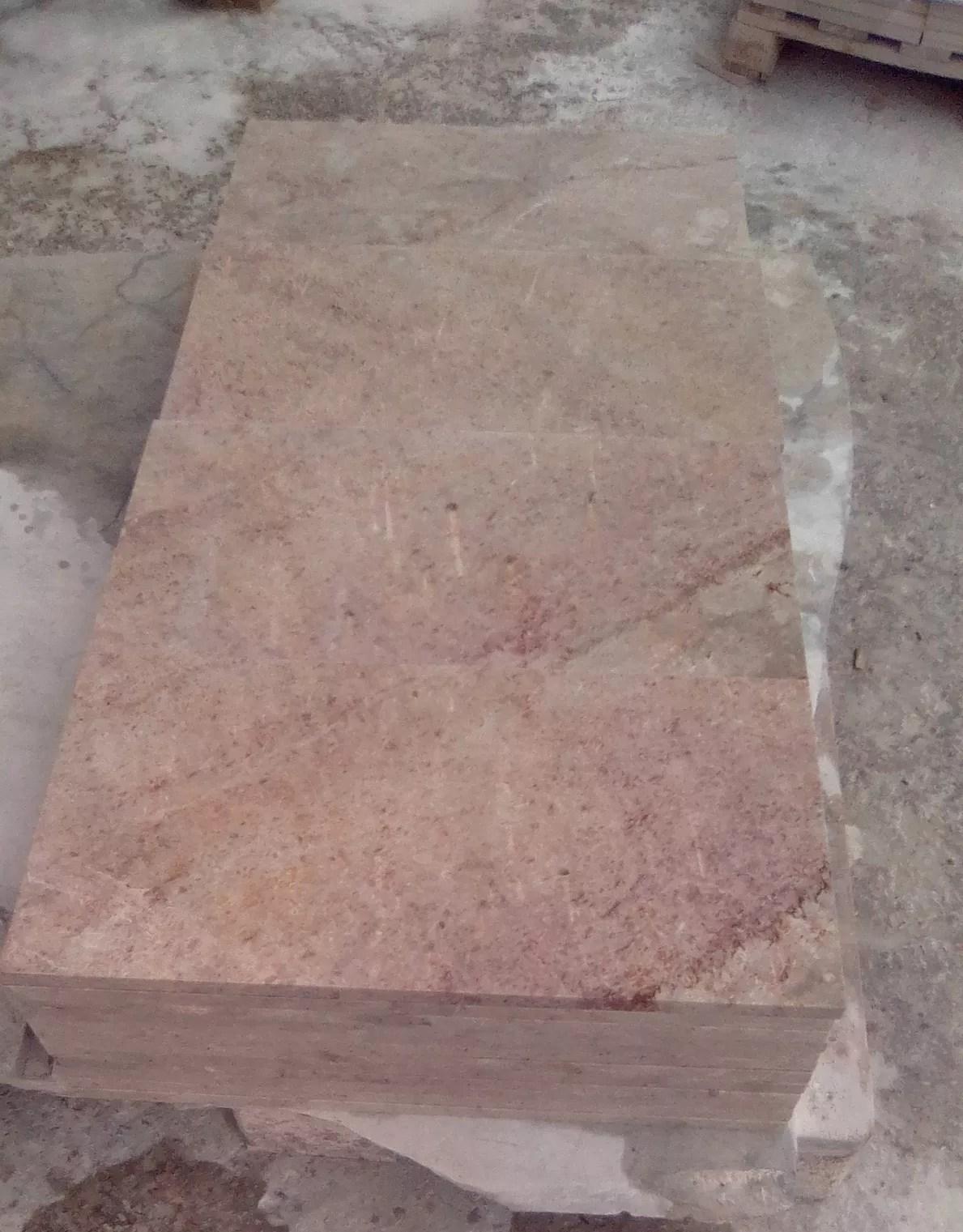 Fabrication D Escalier En Tunisie travertin - rose de kadhel de tunisie - 2 cm - granites & marbres