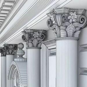 les Chapiteaux ioniques de marbre