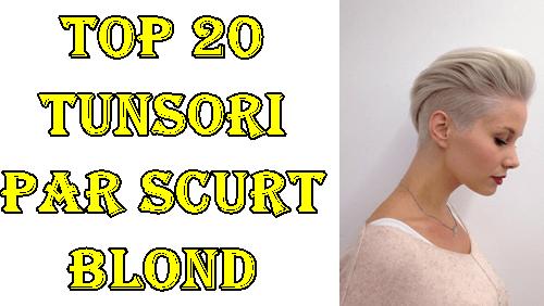 Tunsori par scurt blond pe care o sa le adori