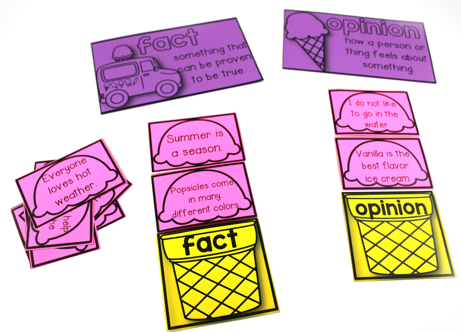 Fact And Opinion Freebie With Astrobrights