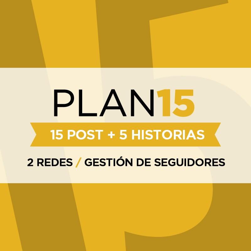 Gestión de Redes Sociales  - Plan 15