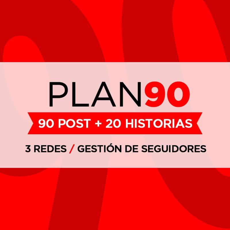 Gestión de Redes Sociales - Plan 90