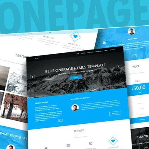 Página Web One Page con Publicidad