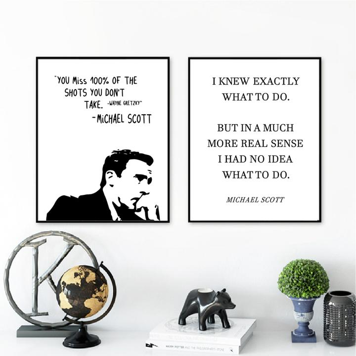 The Office Tv Show Art Canvas Poster Painting Michael Scott Quotes Office Decor Ebay