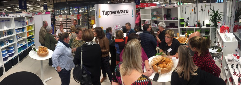 Inauguration de la Boutique TUPPERWARE de Mons, le 23 novembre 2018