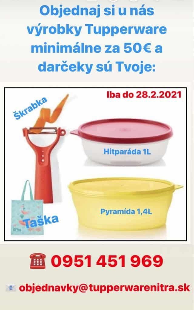 Akcia - darčeky k nákupu Tupperware Nitra