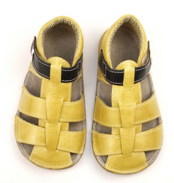 EF Barefoot kollased sandaalid