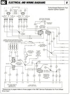 1986 Shelby GLHS Omni Wiring & Vacuum Diagrams  Turbo