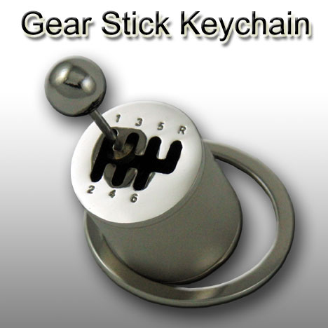 Gear Stick Keychain