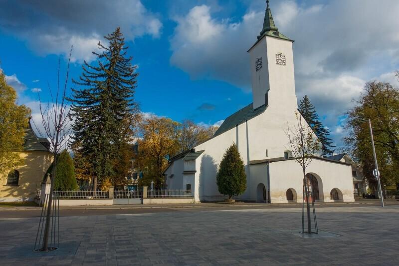 Turčianska záhradka - rímskokatolícky kostol v Martin