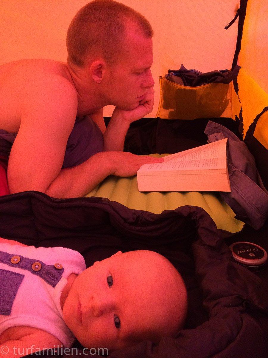 baby på telttur
