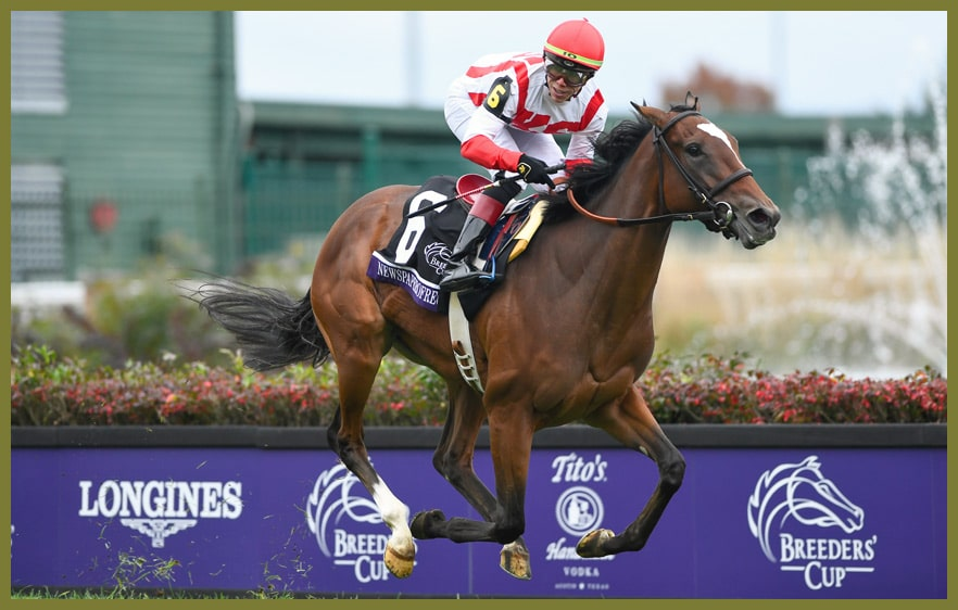 Sieger im Breeders Cup Juvenile Fillies Turf 2018