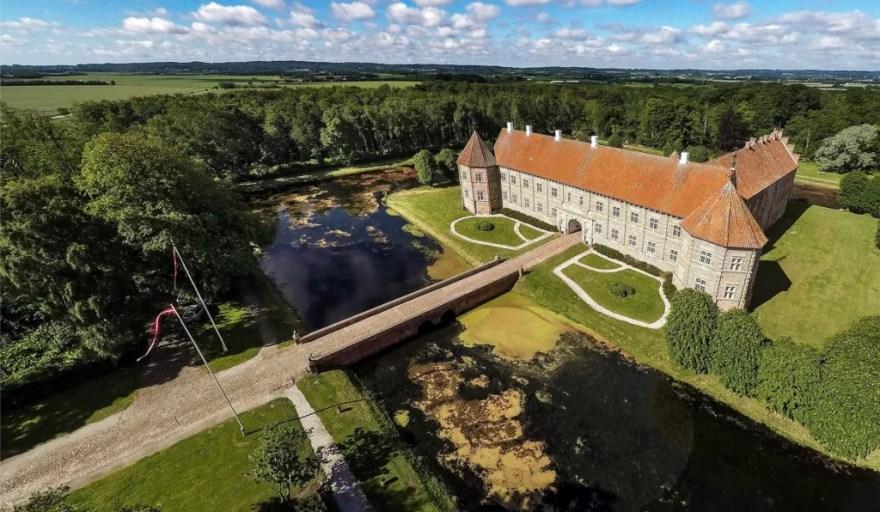 Voergaaard Slot i Brønderslev Kommune. (Foto: Destination Nord)