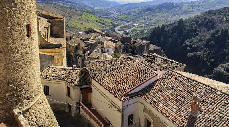 Panorama dal castello di Oriolo