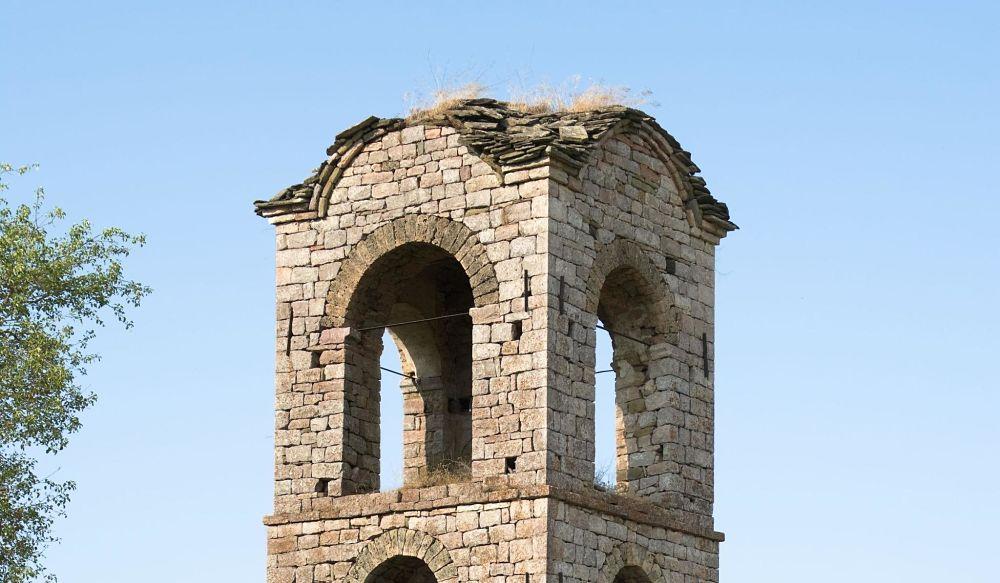 Torre del campanello a Voskopoja, Albania