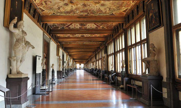 Image result for Uffizi corridoio
