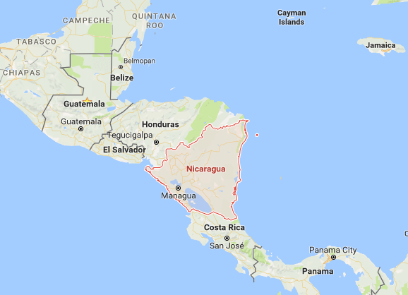 Nicaragua-on-map-with-neighboring-countries – Turismo CaNica