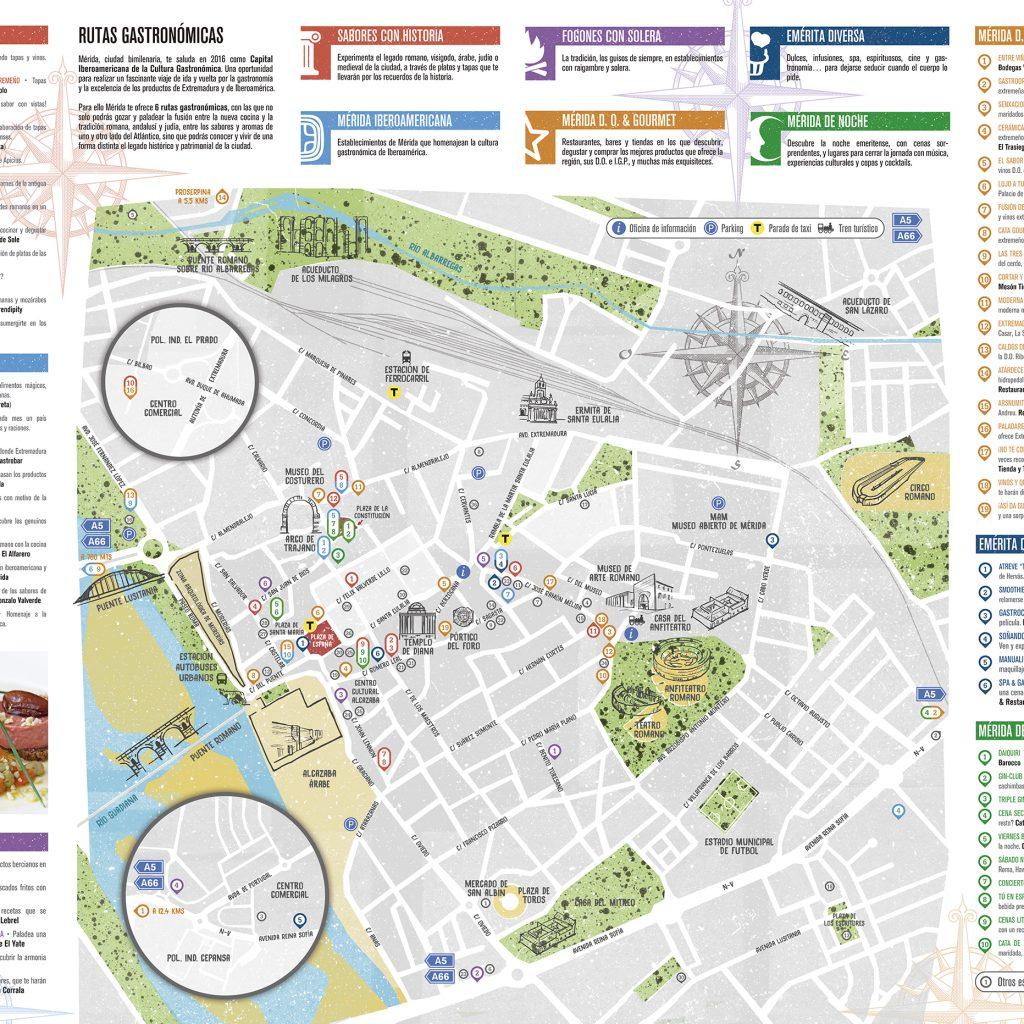 merida espana mapa turistico