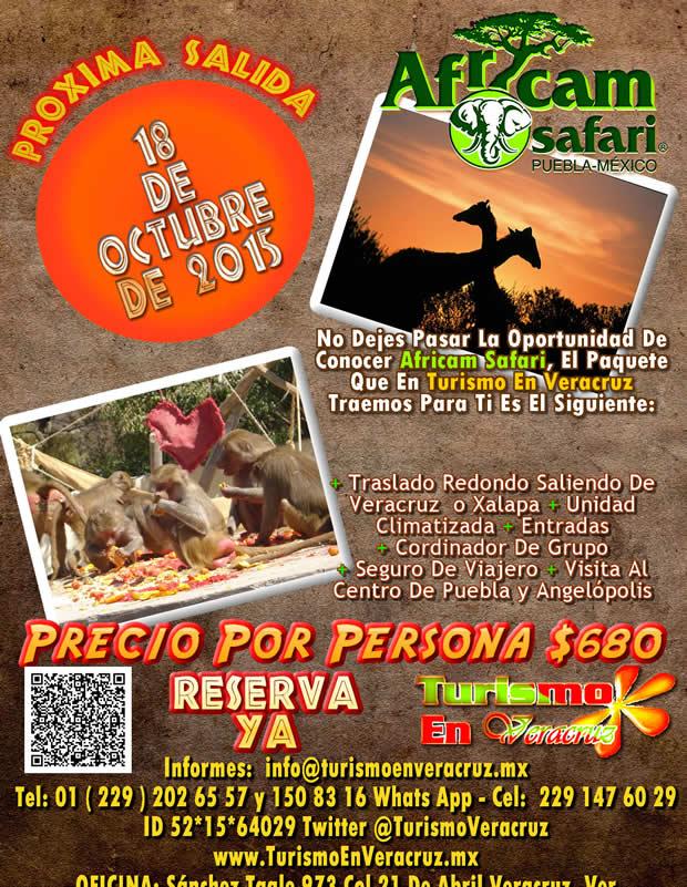 #Excursión a #AfricamSafari Este 18 De Octubre Saliendo De #Veracruz y #Xalapa