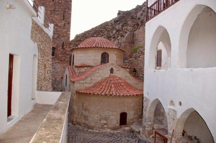tilos mosteiro agios-panteleimonas