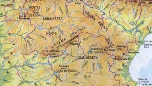 mapa geofisico de españa