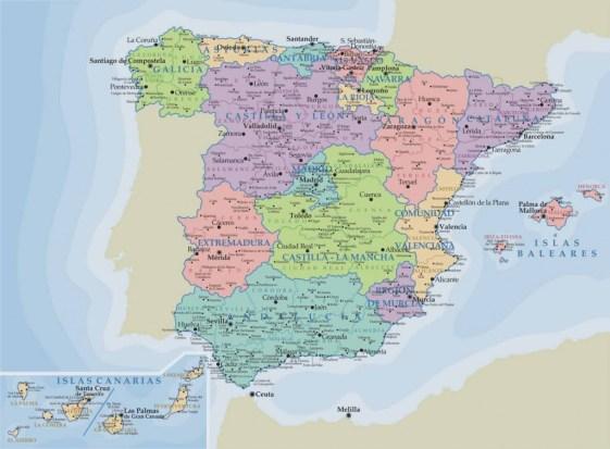 comunidades autónomas de españa Mapa de las Comunidades autónomas de España