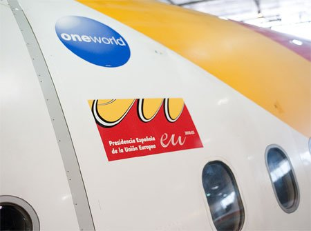 Iberia, Aerolínea oficial de la Presidencia Española de la UE 1
