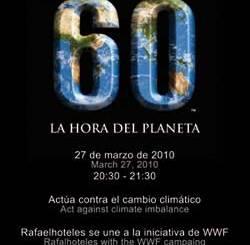 Rafaelhoteles se une a 'La Hora del Planeta'