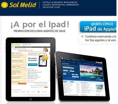 Solmelia.com premia las reservas de los agentes de viajes