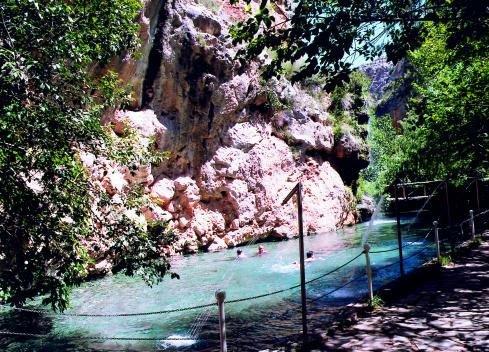 Balneario La Virgen sobre el Río Mesa