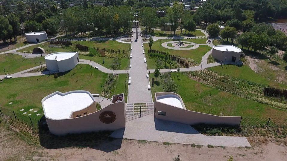 vista aerea del parque-tematico-cura-brochero en la provincia de Cordoba, argentina