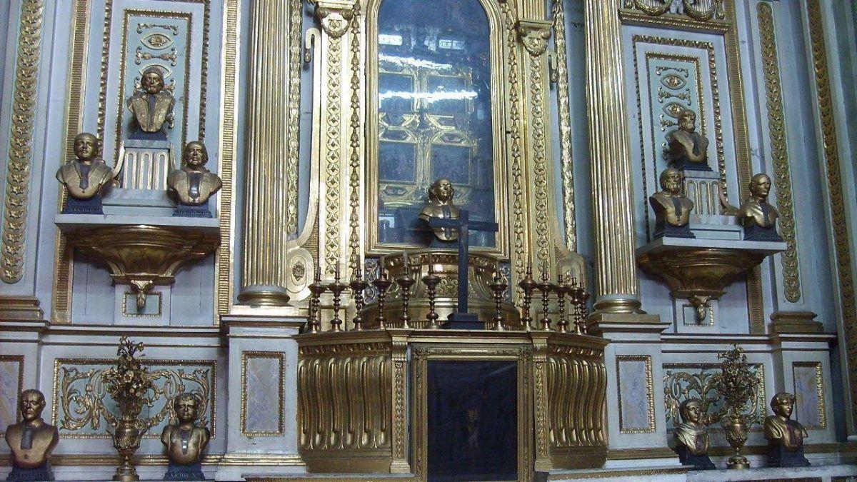 Capilla de las reliquias de la Catedral de Puebla.