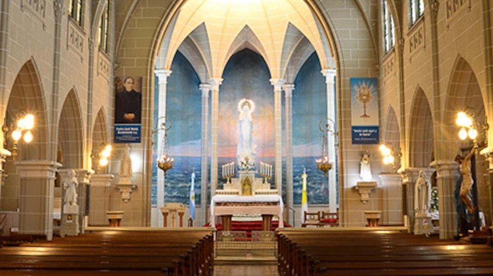 La capilla Stella Maris, ubicada en Viamonte y Brown,