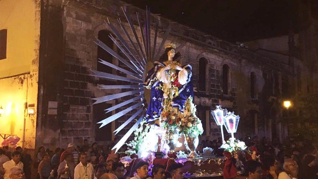 Tradicional Procesión del 8 de Diciembre en honor a la patrona de nicaragua